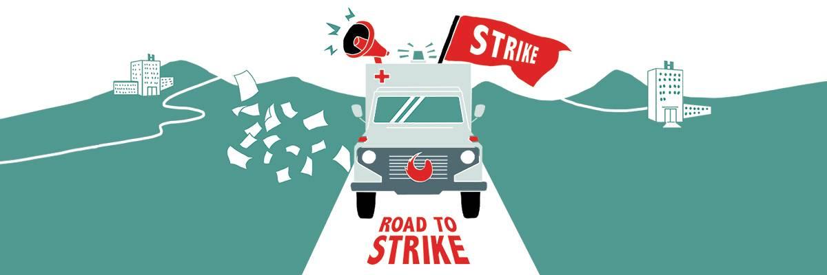 Komm mit auf die Road to strike!