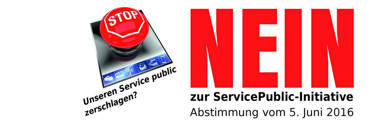 Nein zur ServicePublic-Initiative!